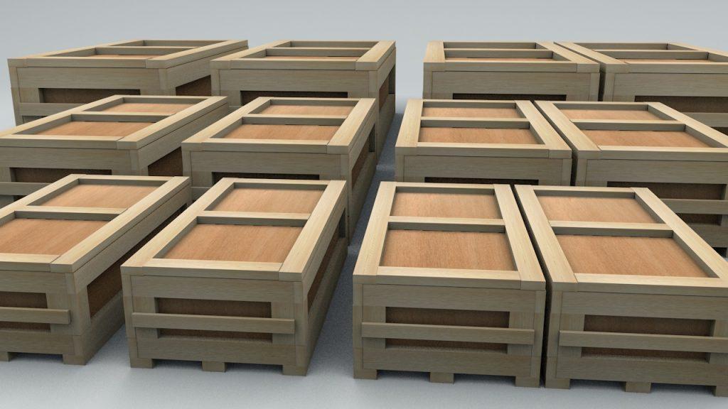 деревянный ящик промышленный