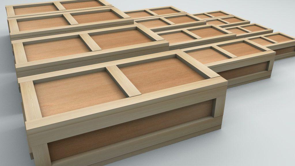 промышленные деревянные ящики