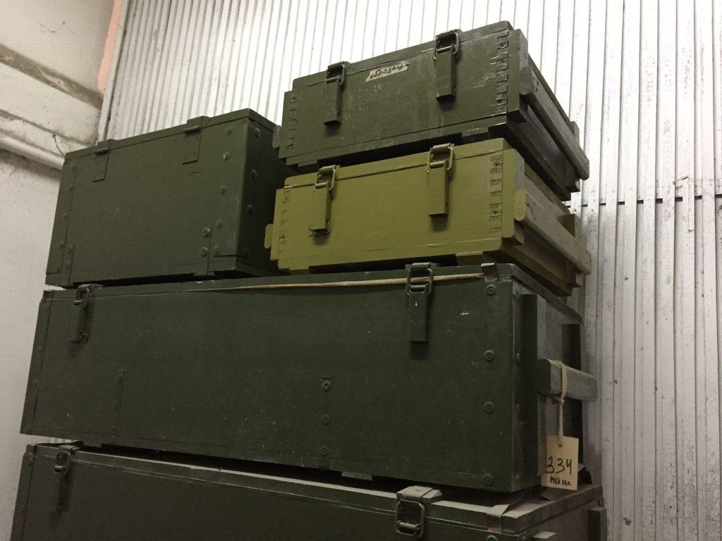 армейский ящик для хранения оружия