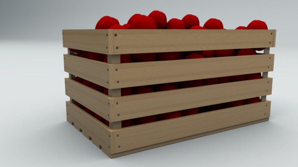 фанерный ящик для фруктов