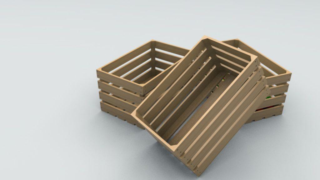 фанерный ящик для овощей и фруктов