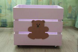 Фанерные ящики для игрушек